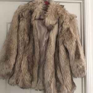 Faux fur coat from top shop